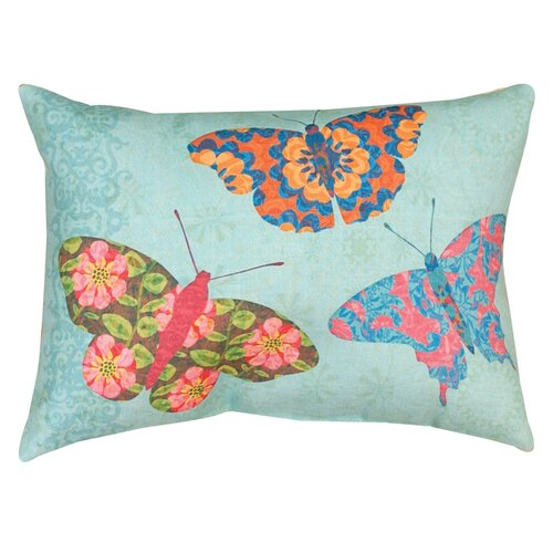 Manual Woodworkers & Weavers Butterfly Kaleidoscope Pillow