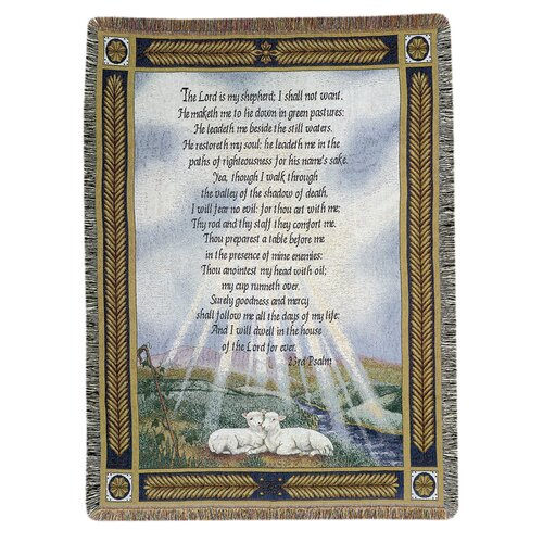 Manual Woodworkers & Weavers 23rd Psalm Tapestry Cotton Throw