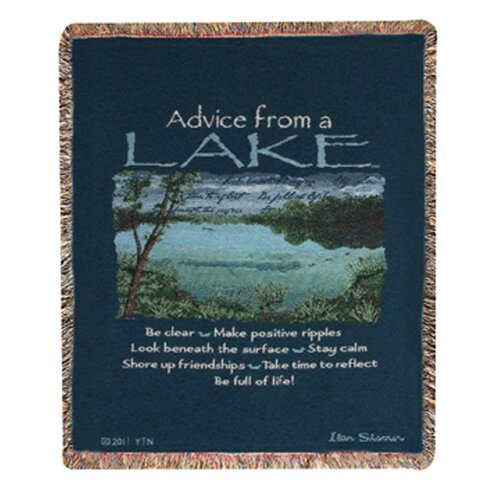 Advice From a Lake Tapestry Cotton Throw