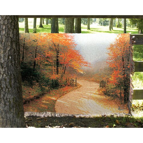 Manual Woodworkers & Weavers Autumn Lane Tapestry Cotton Throw