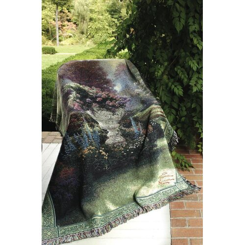 Manual Woodworkers & Weavers The Garden of Hope Tapestry Cotton Throw