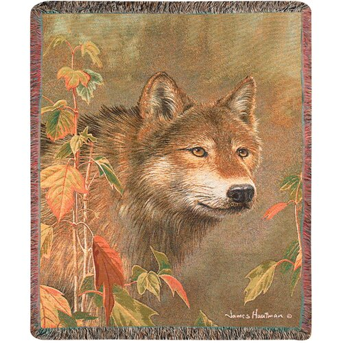 Manual Woodworkers & Weavers Hidden in the Mist Tapestry Cotton Throw