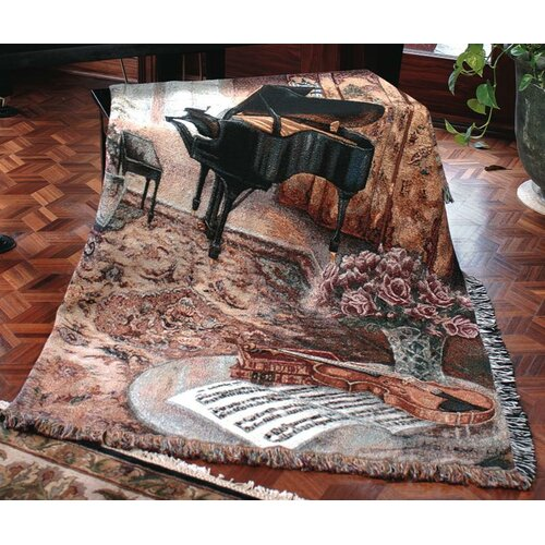 Manual Woodworkers & Weavers Music Room Tapestry Cotton Throw