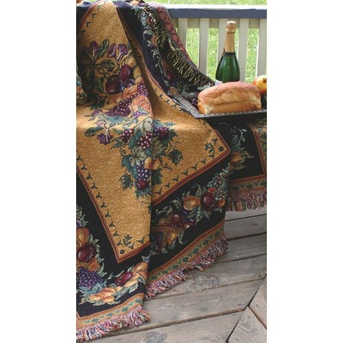 Manual Woodworkers & Weavers Old World Italy Tapestry Cotton Throw