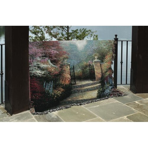 Manual Woodworkers & Weavers Victorian Garden Tapestry Cotton Throw