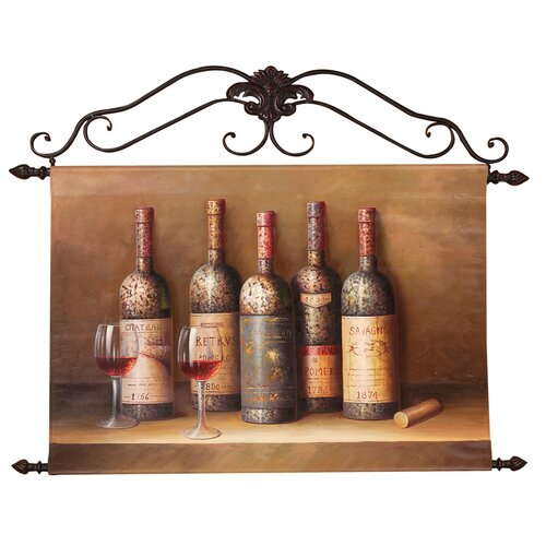 Estate Wine Collection Original Painting on Canvas