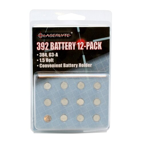 Laserlyte 392 Batteries, 12-Pack