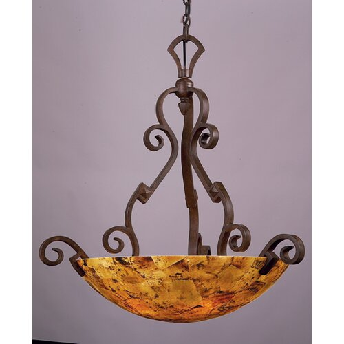 Kalco Ibiza 5 Light Large Bowl Inverted Pendant
