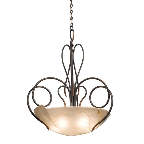 Tribecca 5 Light Bowl Inverted Pendant