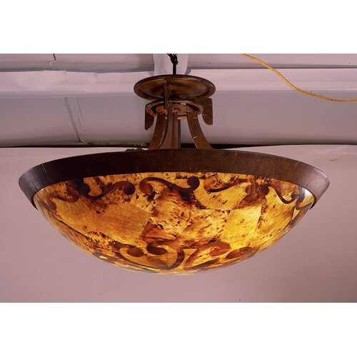 Kalco Copenhagen 3 Light Semi Flush Mount