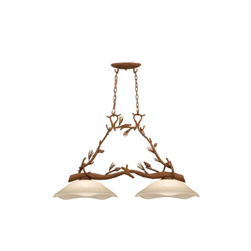 Kalco Ponderosa Two Light Chandelier