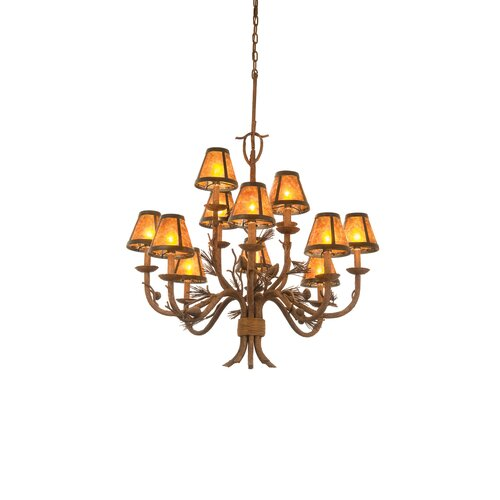 Ponderosa 12 Light Chandelier