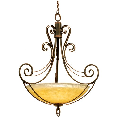 Mardi Gras 6 Light Bowl Inverted Pendant