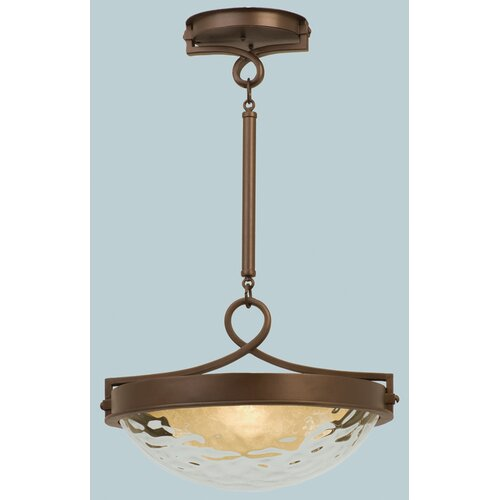 Kalco Newport 3 Light Bowl Inverted Pendant