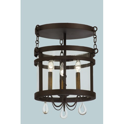 Kalco Morris 3 Light Semi Flush Mount