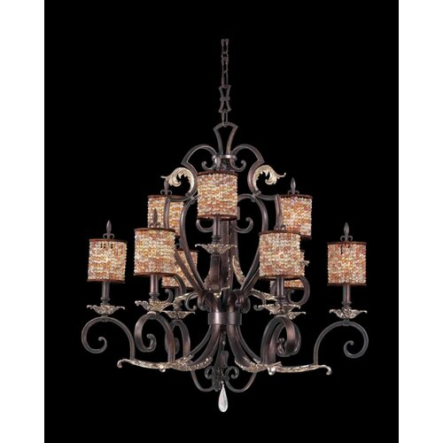 Kalco Chesapeake 9 Light Chandelier