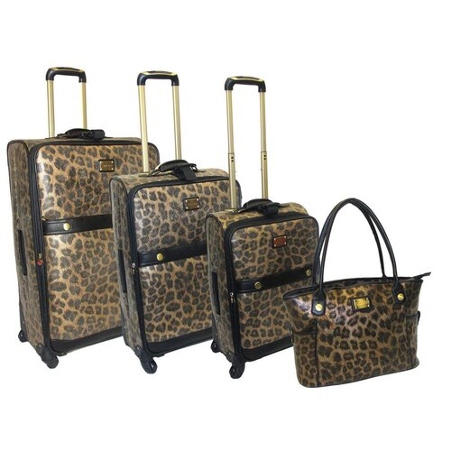 Adrienne Vittadini 4 Piece Luggage Set