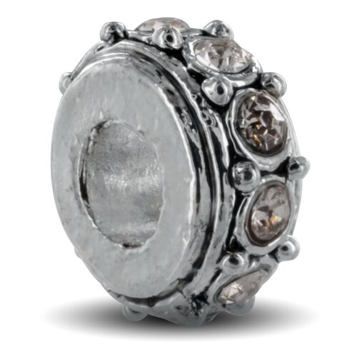 West Coast Jewelry Sparkling Stone Bead Charm