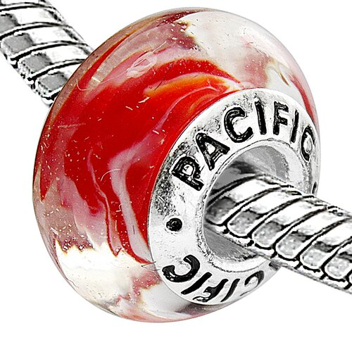 West Coast Jewelry Pacific 925 Murano Forever Young Glass Bead