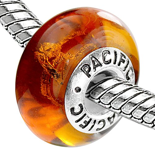 Pacific 925 Murano Bronzy Glow Glass Bead