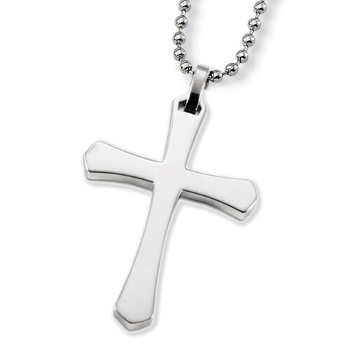 West Coast Jewelry Stainless Steel Unisex Cross Necklace