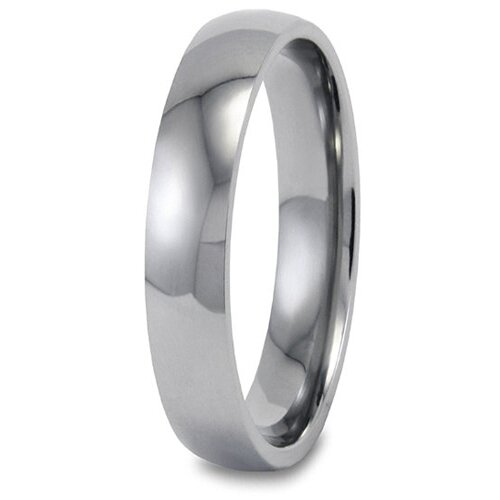 Men's Titanium Polished Domed Comfort-fit Ring