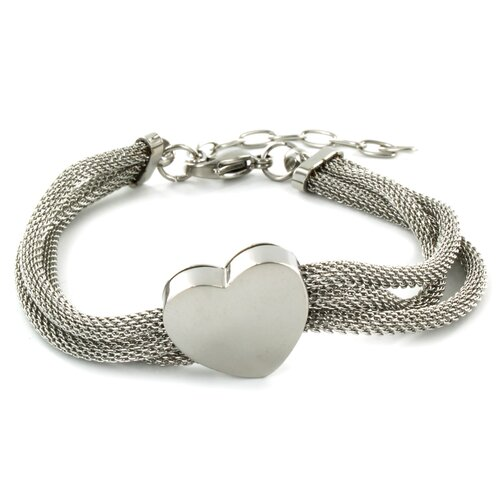 West Coast Jewelry Heart Mesh Bracelet