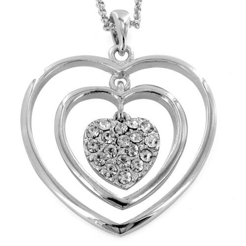 Stainless Steel Triple Heart Necklace