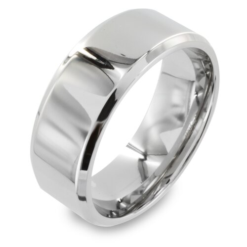 West Coast Jewelry Stainless Steel Flat Band Ring