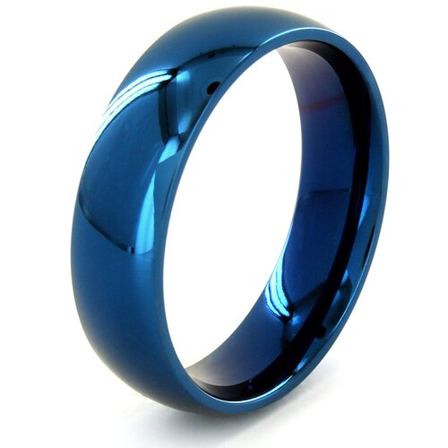West Coast Jewelry Men's Stainless Steel Domed Comfort Fit Ring