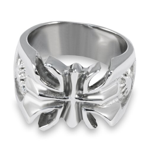West Coast Jewelry Stainless Steel Cutout Ring