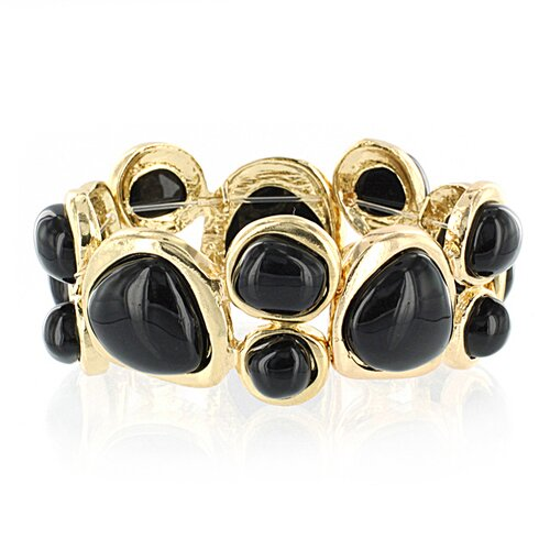 Goldtone Stretch Strand Bracelet