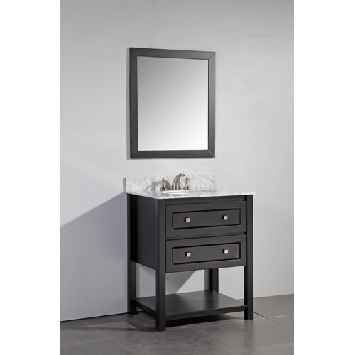 Legion furniture 30 single bathroom vanity set with mirror for Legion furniture 30 inch bathroom vanity