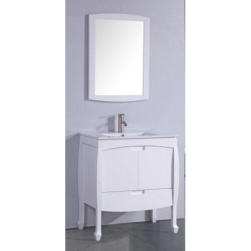 24 bathroom vanity set with single sink
