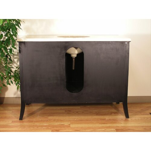 "Legion Furniture 48"" Single Bathroom Vanity Set with Marble Top"