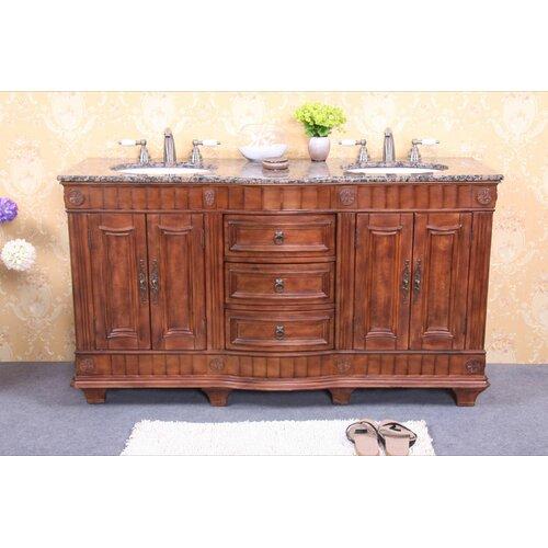 "Legion Furniture 60"" Double Bathroom Vanity Set"
