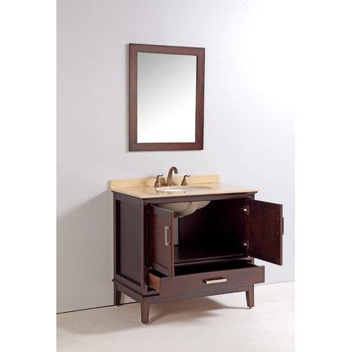 36 single bathroom vanity set with mirror wayfair