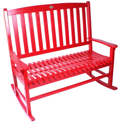 Jordan Manufacturing Double Rocker Wood Garden Bench