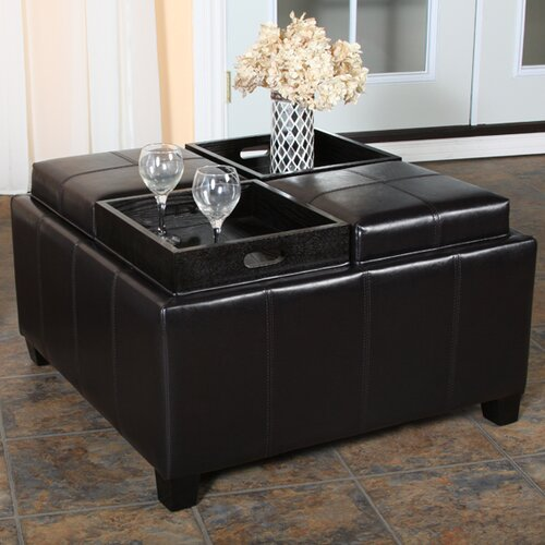 Home Loft Concept Ferguson Tray Top Storage Ottoman