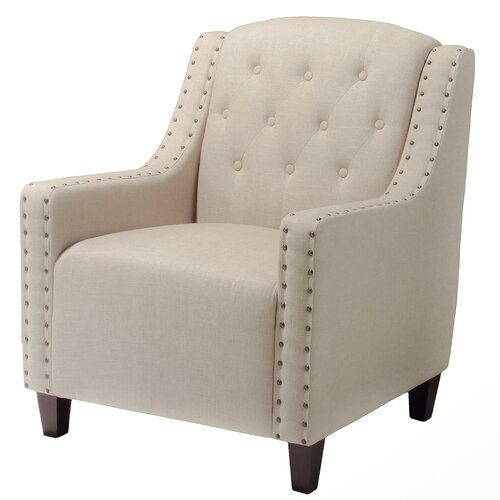 Home Loft Concept Marquise Tufted Leather Club Chair