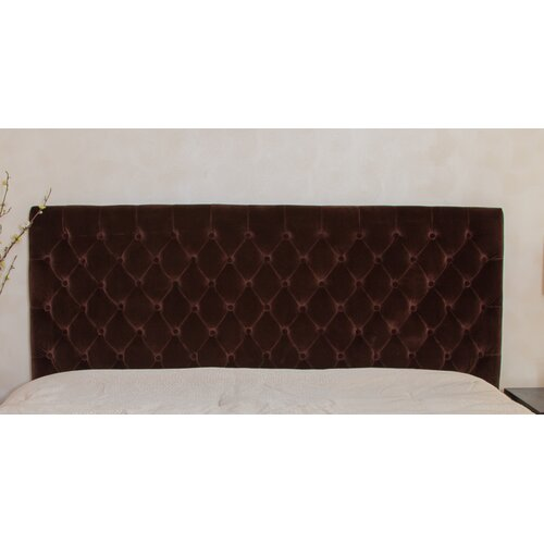 Home Loft Concept Westham Queen/Full Button Tufted Suede Headboard