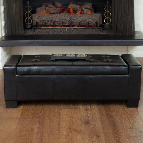 Home Loft Concept Jarius Bonded Leather Storage Ottoman