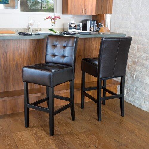 Princeton Leather Bar Stool (Set of 2)