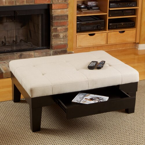 Home Loft Concept Drew Drawer Storage Ottoman