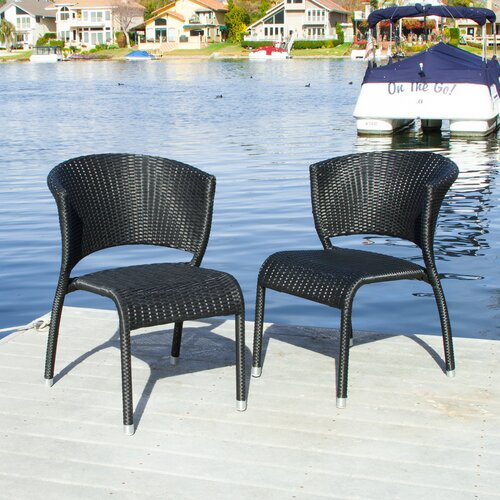 Home Loft Concept Yonkers Outdoor Wicker Chairs (Set of 2)