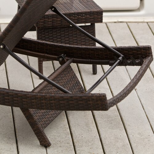 Home Loft Concept Salvador Outdoor Adjustable Wicker Lounge