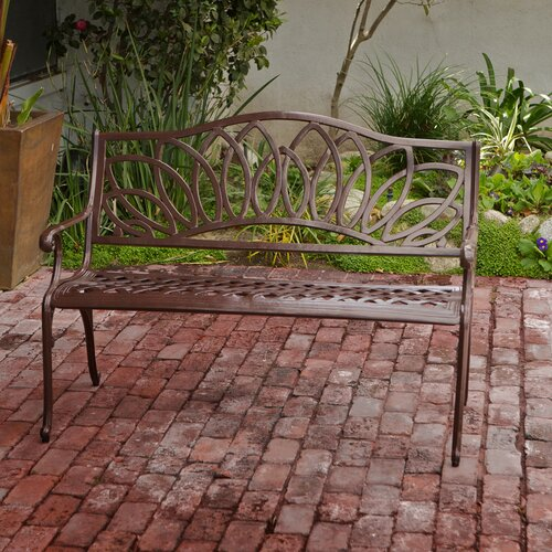 Home Loft Concept Ramsey Spiral Cast Aluminum Outdoor Bench