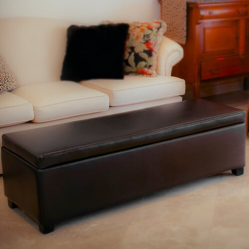 Home Loft Concept Jonas Leather Storage Ottoman