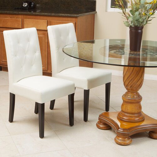 Home Loft Concept Autry Bonded Leather Dining Chair (Set of 2)