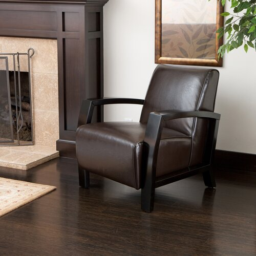 Farfan Bonded Leather Club Chair